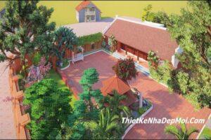 Nhà mái ngói truyền thống 5 gian