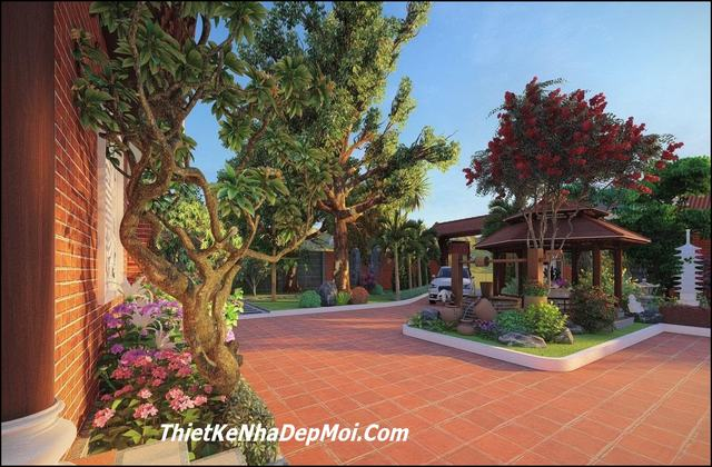 Các hình ảnh nhà vườn 5 gian đẹp