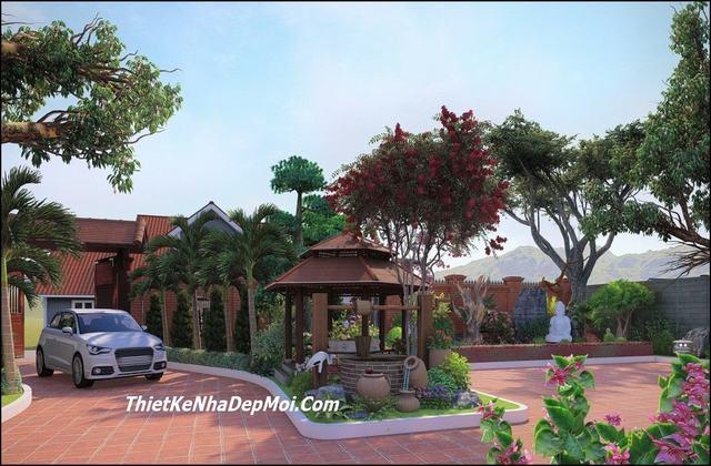 Thiết kế kiến trúc sân vườn giá rẻ