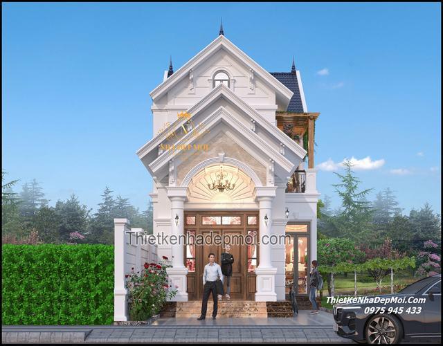 Kiểu nhà gác lửng tân cổ điển đẹp nhất Việt Nam 2021