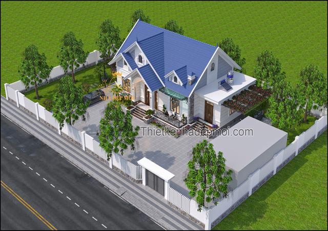 Mẫu nhà một tầng mái thái bốn phòng ngủ