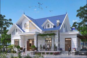 Mẫu nhà đẹp 1 tầng 4 phòng ngủ năm 2021