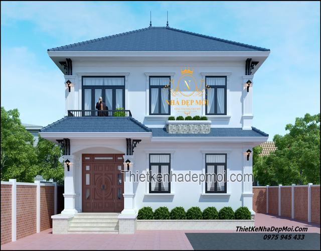 Mẫu nhà 2 tầng đơn giản ở nông thôn 2021