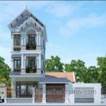 Kiến trúc nhà đẹp 3 tầng mái ngói