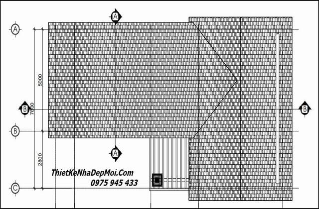 Bản vẽ nhà 80m2 2 tầng mái thái