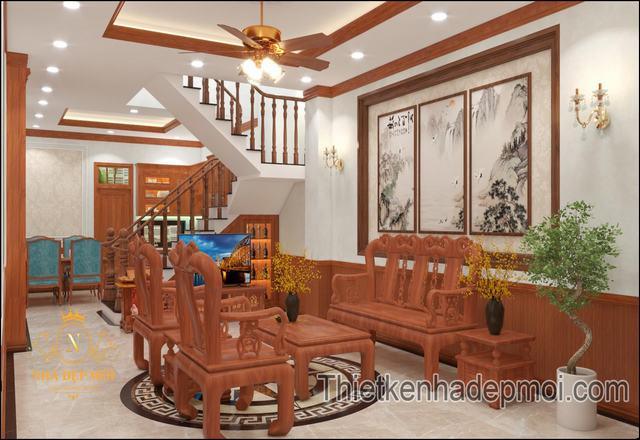 Thiết kế nội thất nhà phố tân cổ điển 5x20