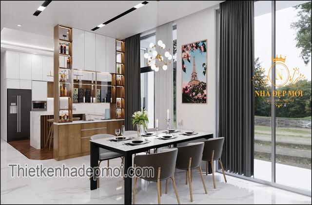 Nội thất nhà bếp tối giản minimalism