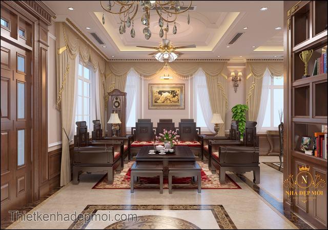 Nội thất phòng khách kiểu châu âu