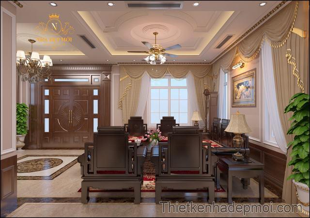 Nội thất villa cổ điển đẹp 1000m2