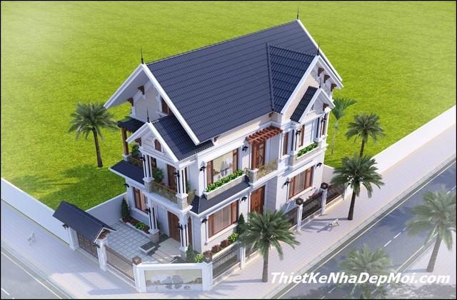 nhà biệt thự 2 tầng 2 mặt tiền 2021