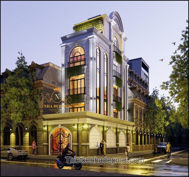 Nhà 2 mặt tiền phố kinh doanh 4 tầng đẹp nhất
