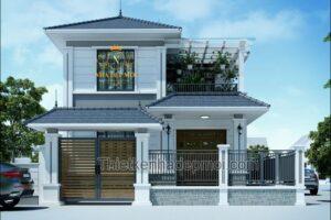 nhà 2 tầng 2 mặt tiền đơn giản
