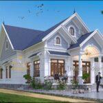 Nhà vườn trệt mái thái đẹp 2021