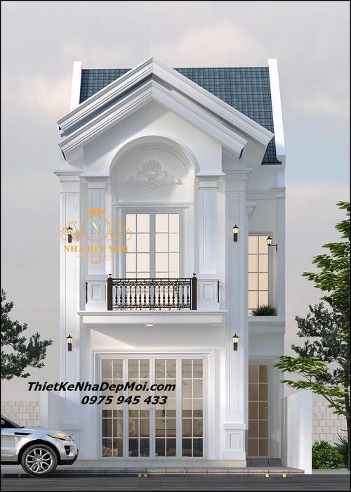Mẫu nhà mái thái 2 tầng 6x20
