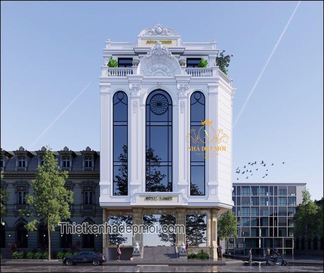 Tòa nhà văn phòng 5 tầng đẹp 2021