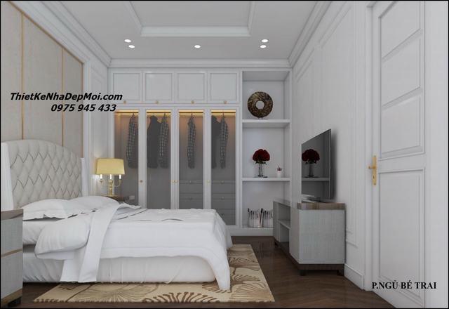 Phòng ngủ tân cổ điển cho nhà ống