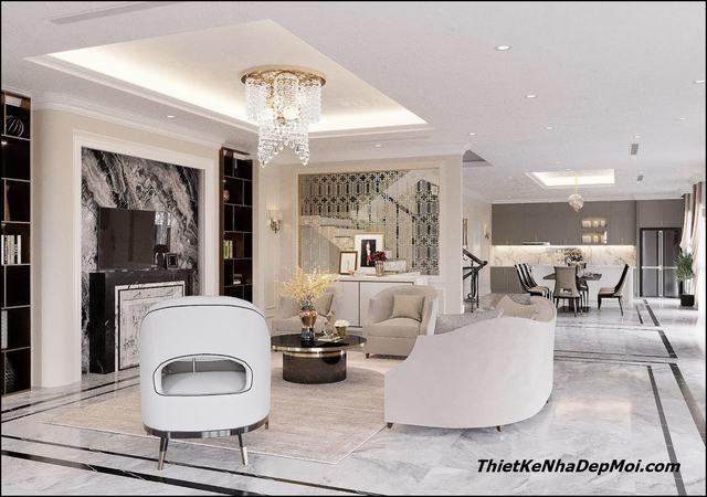 nội thất căn hộ tân cổ điển 2021