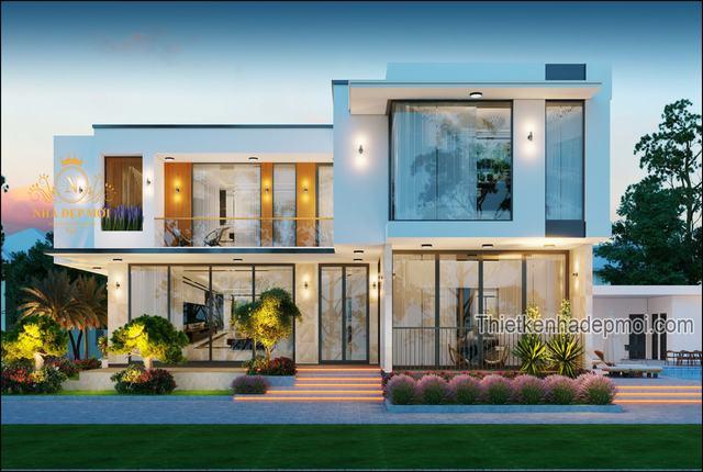 Nhà villa 2 tầng mái bằng