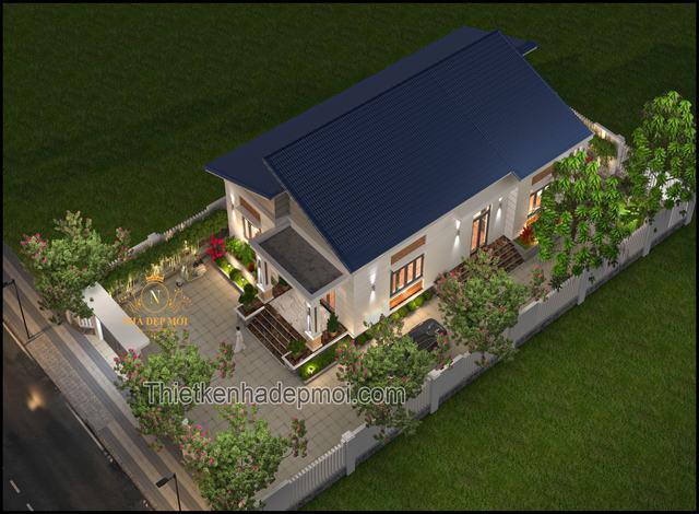 Nhà vườn 1 tầng hiện đại 170m2