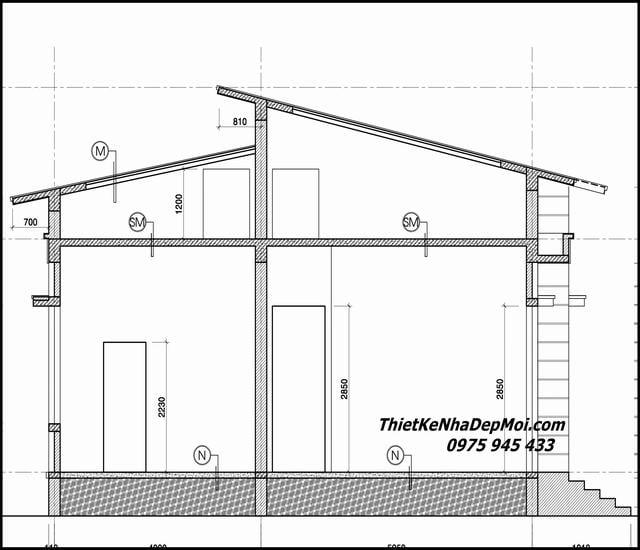 những bản vẽ xây nhà 1 tầng