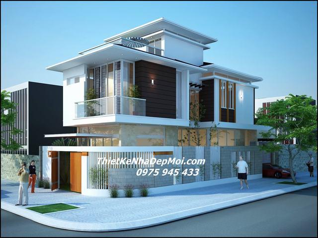 nhà 2 mặt tiền hiện đại 2021