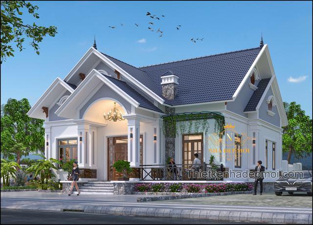 nhà mái thái 1 tầng ở quê 2021
