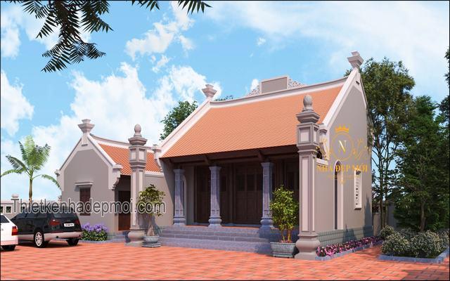 Nhà thờ 100m2 3 gian