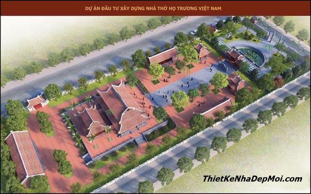 Thiết kế nhà thờ họ lớn nhất Việt Nam
