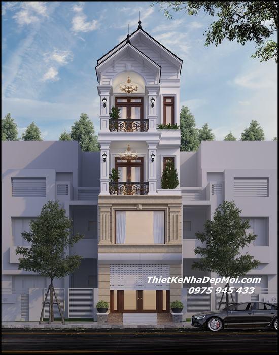 Cải tạo mặt tiền nhà phố 3.5 tầng đẹp