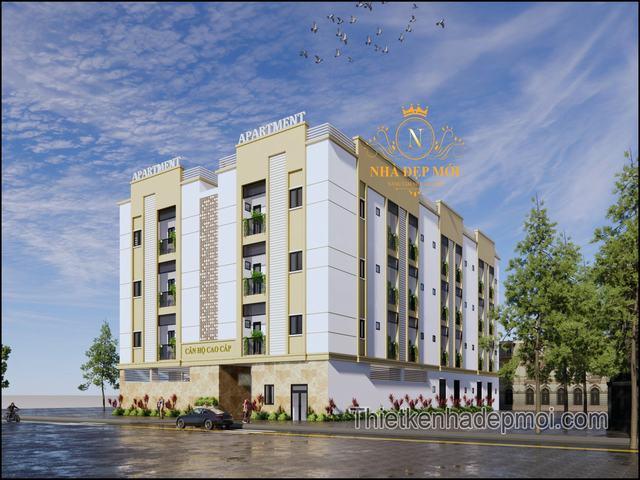 Mẫu căn hộ cho thuê 5 tầng hiện đại