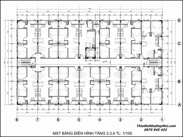 Thiết kế phòng trọ cho thuê căn hộ
