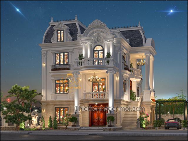Nhà biệt thự kiểu lâu đài Pháp 3 tầng đẹp