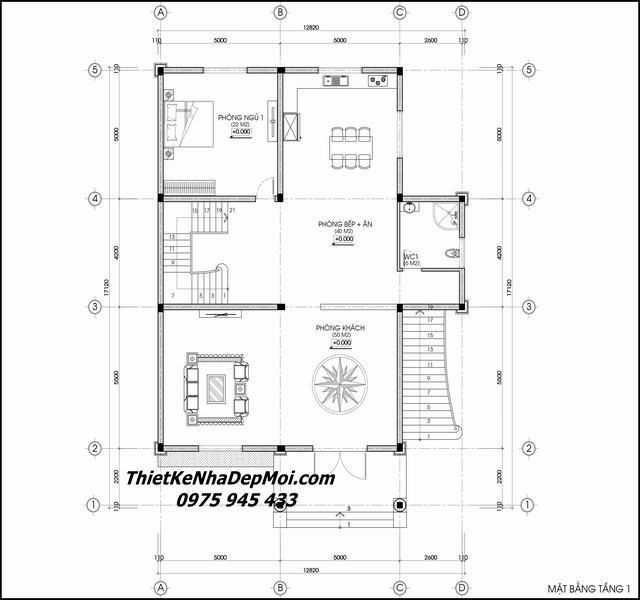 Thiết kế lâu dai2i 3 tầng 13x17