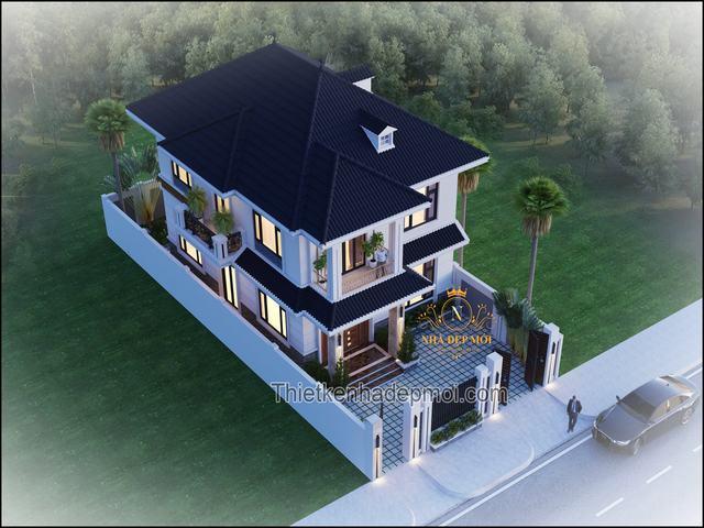 Mẫu biệt thự 2 tầng mini hiện đại 2021