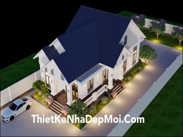 Mẫu nhà 1 tầng đẹp mái thái 2021