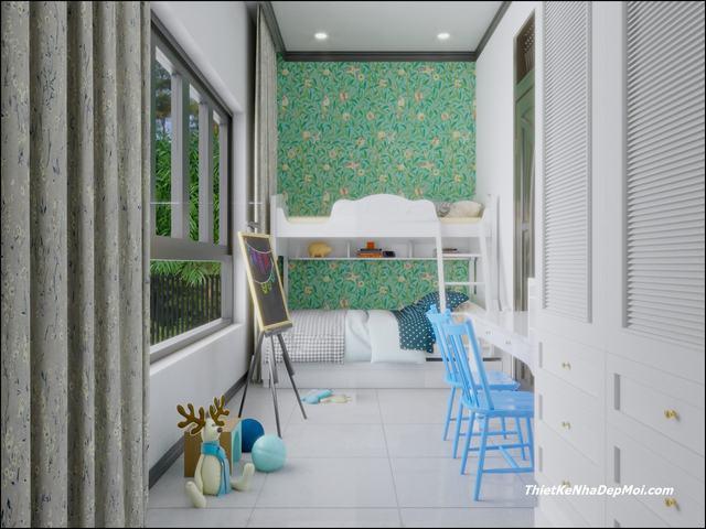 Phòng ngủ indochine cho bé