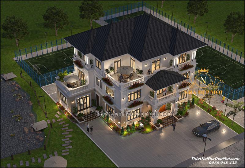 Biệt thự vườn 3 tầng đẹp 2021