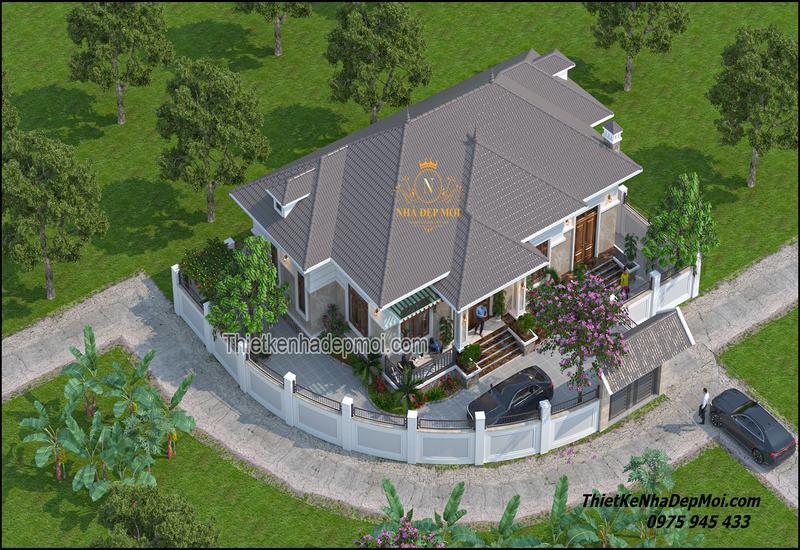 Nhà villa 1 tầng 200m2 đẹp nhất