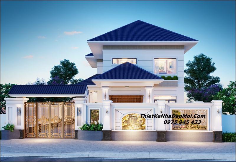 Nhà mái Nhật 2 tầng 8x15 hiện đại