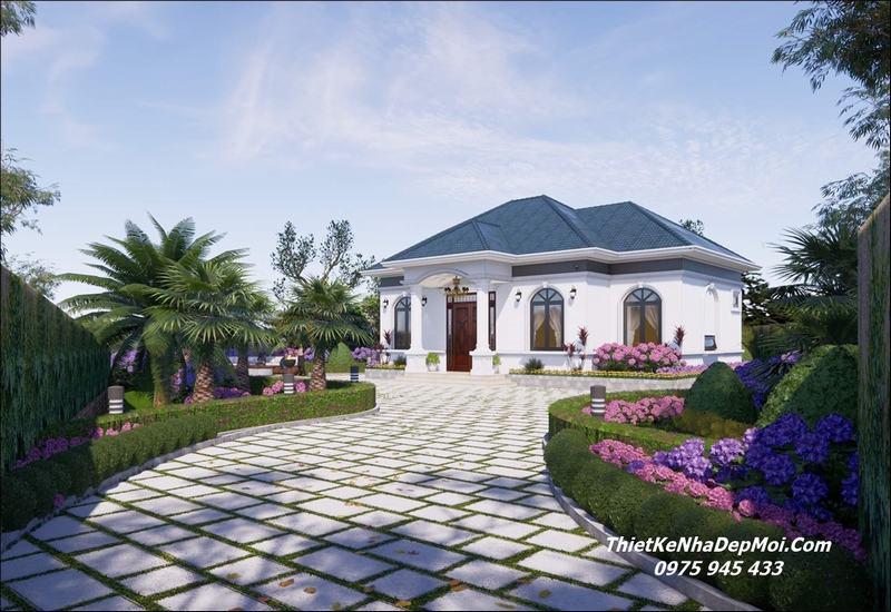 Mẫu nhà cấp 4 có sân vườn đẹp 2021