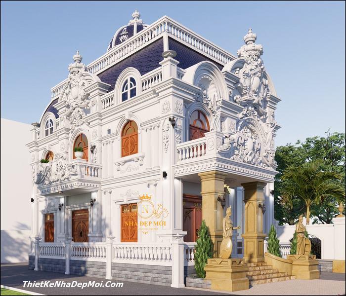 Biệt thự cổ điển 3 tầng pháp cổ