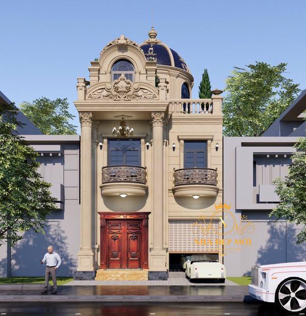 Biệt thự 3 tầng cổ điển mặt tiền 10m
