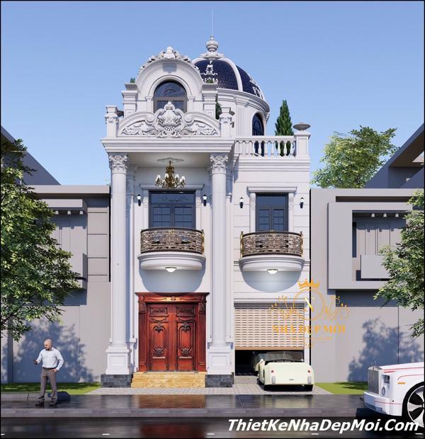 Biệt thự phố cổ điển 3 tầng