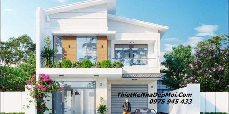Mặt tiền nhà ngang 8m 2 tầng 2022