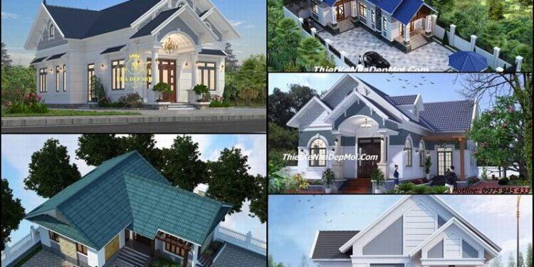 11 mẫu nhà chữ L 1 tầng đẹp ở nông thôn có bản vẽ chi tiết xây có 3 4 phòng ngủ 1 phòng thờ năm 2022 chi phí tiết kiệm
