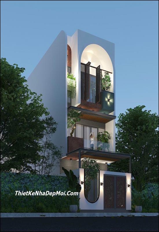 Nhà 1 trệt 2 lầu sân thượng 80m2