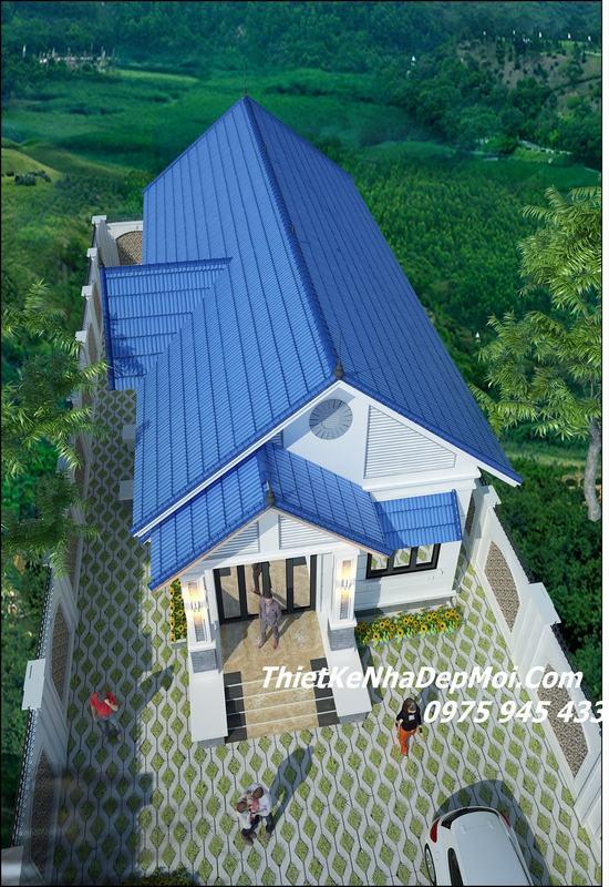 nhà cấp 4 mái thái 3 phòng ngủ mái tôn