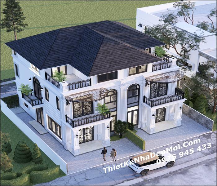 Thiết kế 2 nhà liền kề