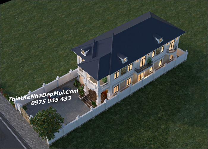 Thiết kế nhà vườn 10x20m