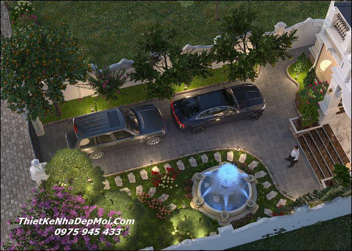 Mẫu nhà vườn đẹp 10x20m
